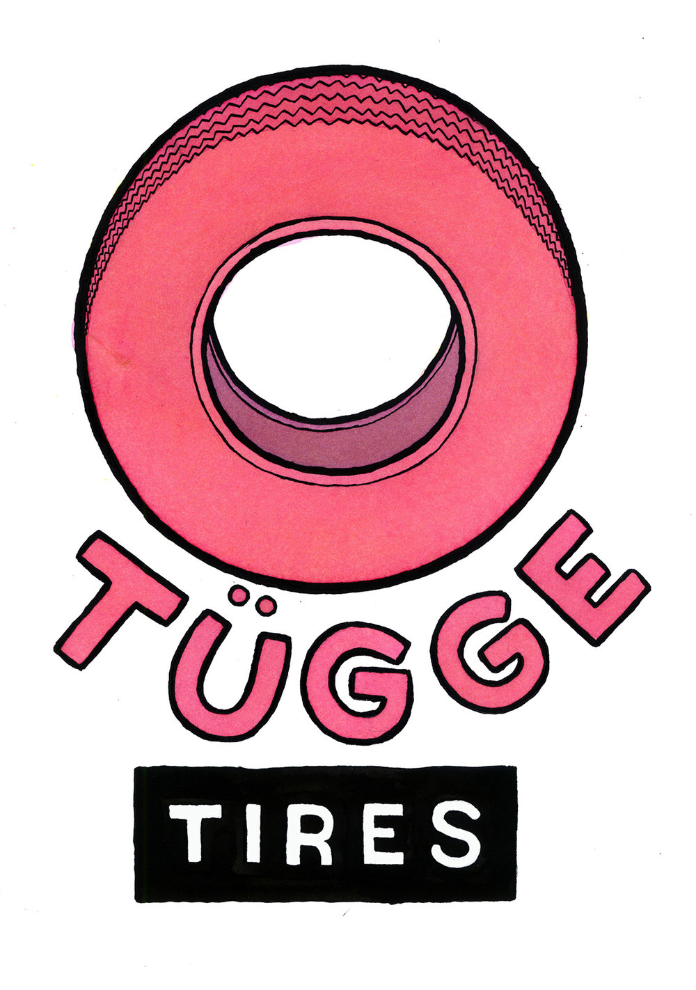 If there was once a special brand of tires used exclusively for the sides of tugboats this would be an antique enameled metal side advert you might see in a nice Austrian restaurant today for decoration.
