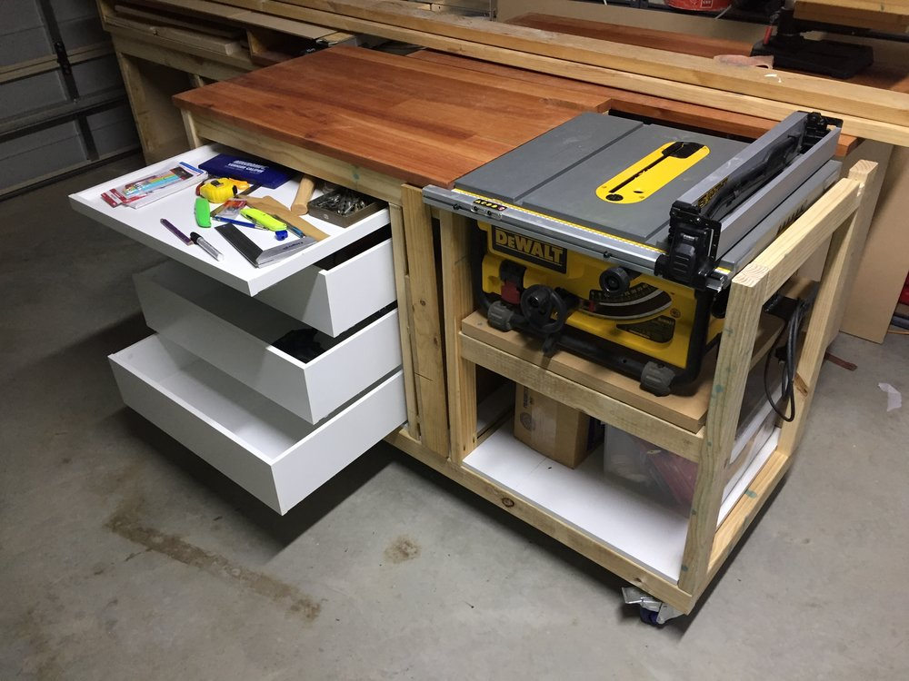Woodworking dewalt table saw stand dave bywaters - Fabriquer table scie circulaire ...