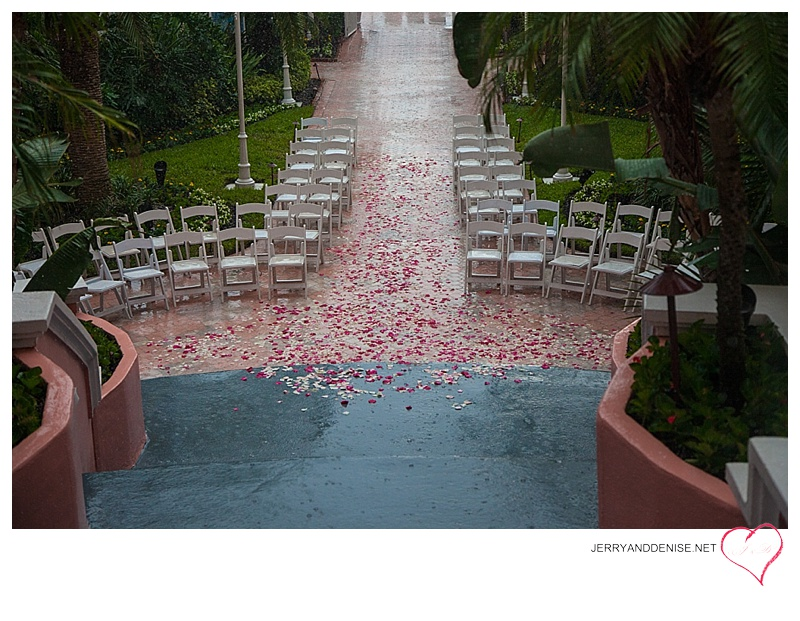 "They said ""I do."" And then it poured."