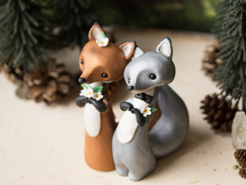 Red and Silver Fox Wedding