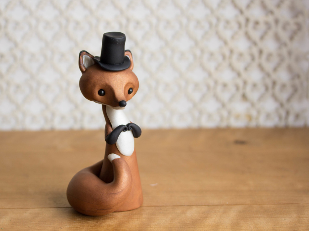 Red Fox in a Black Top Hat