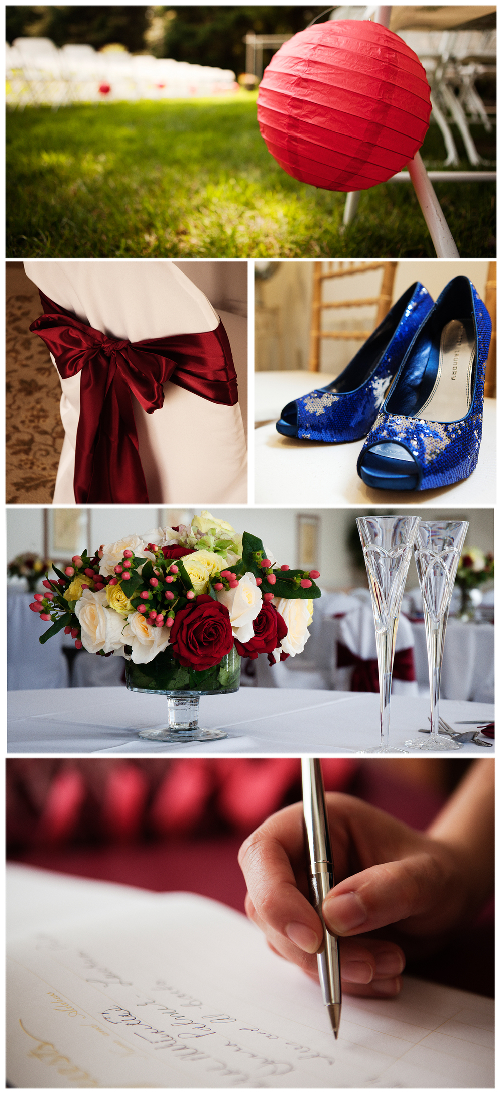 Massachusetts Wedding Photography: Details from a wedding at the Brookmeadow Country Club in Canton, MA. Including decor, shoes and registry book.