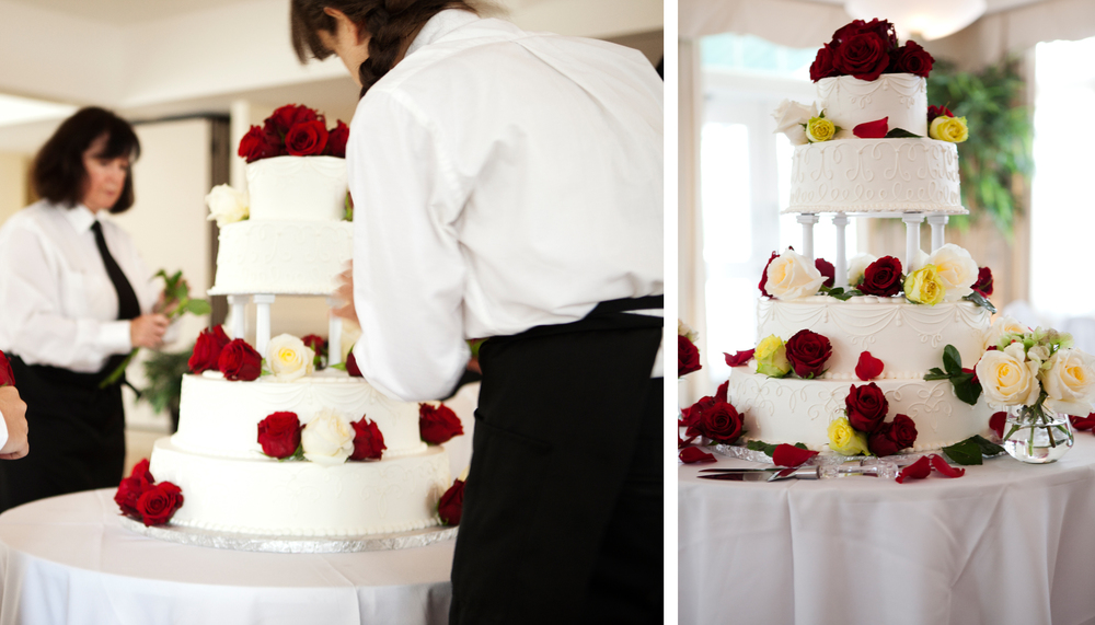 Brookmeadow Country Club, Canton MA. Wedding Cake photography by Ryan Richardson Photography