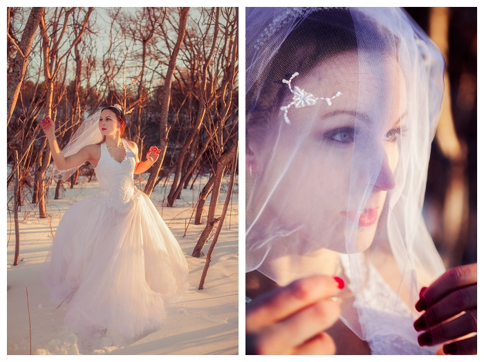 Massachusetts bridal photography, winter bridal, bride with veil