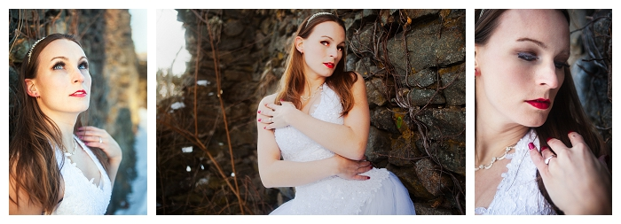 Massachusetts bridal photography, winter bridal, sleeveless gown, classic gown