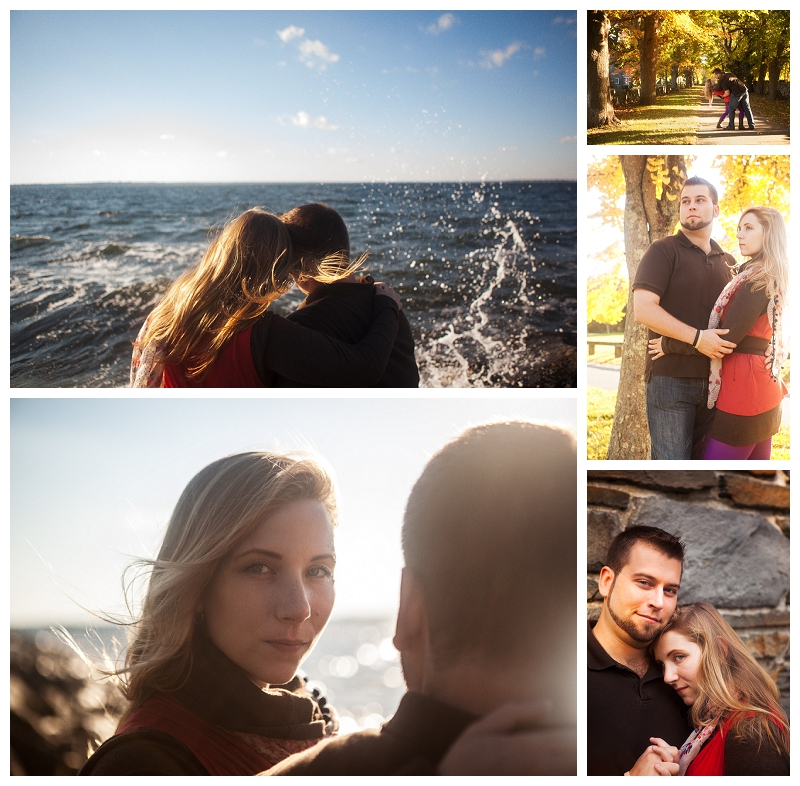 Bristol Rhode Island Engagement Session, Rhode Island wedding photography, New England in the Autumn, romance