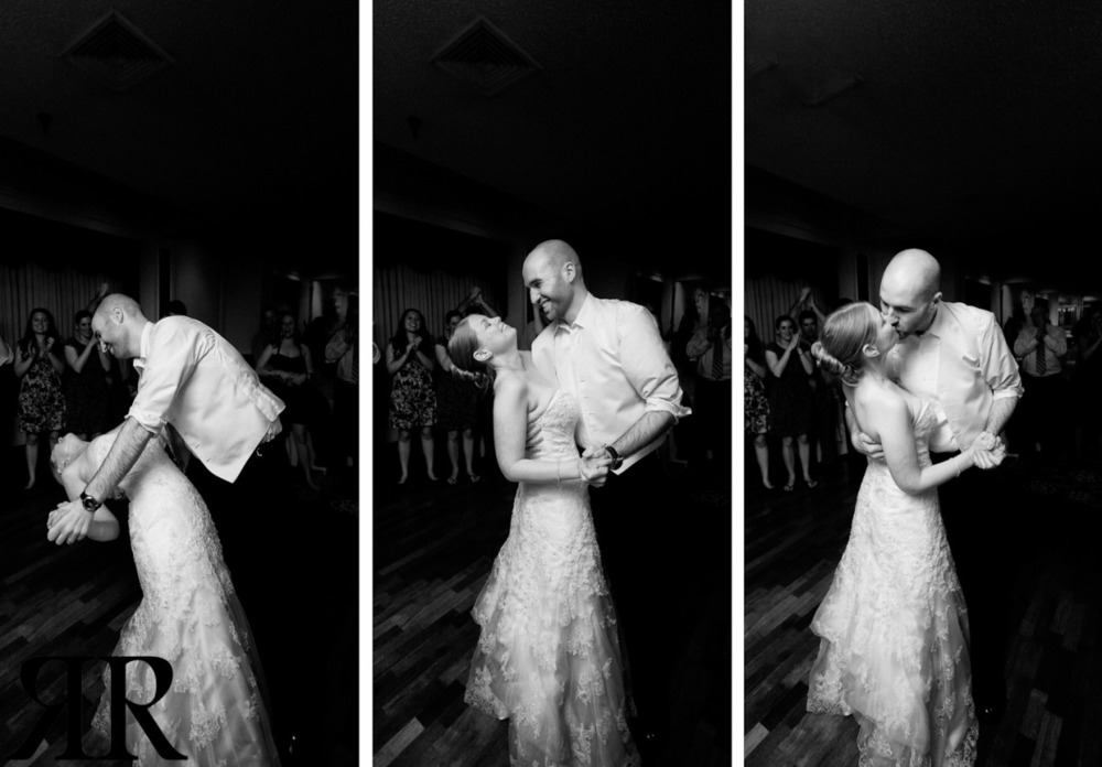 Massachusetts wedding photography, bride and groom dancing triptych