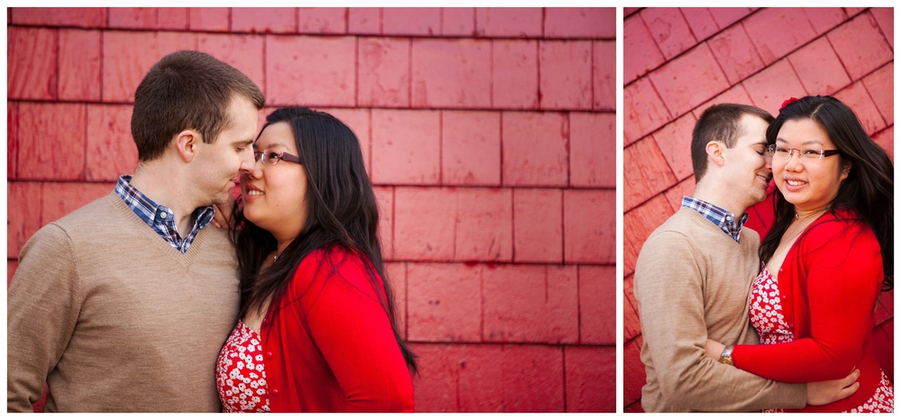 ryanrichardsonphotography boston engagement session couple on red