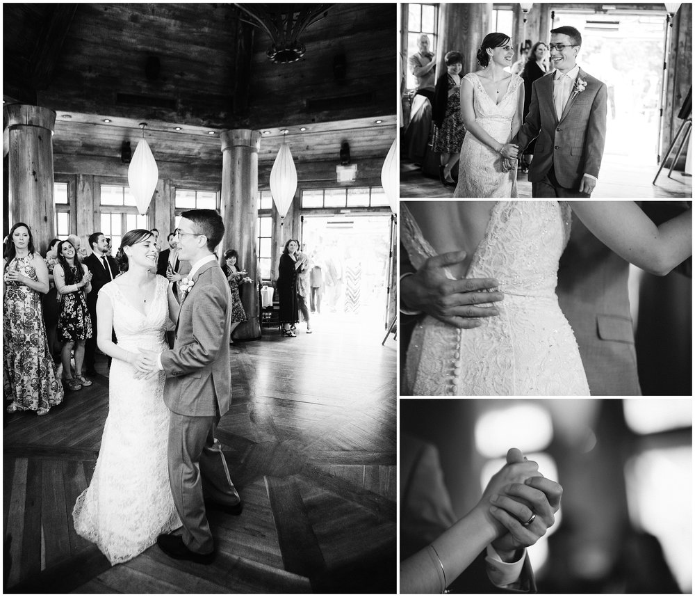 Bride and Groom first dance at wedding reception by Boston Wedding Photographer Ryan Richardson Photography