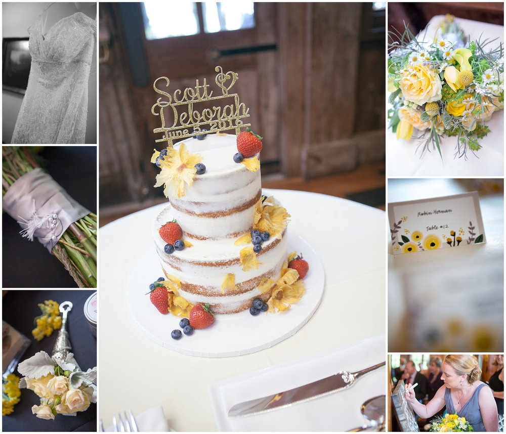 Collage of wedding reception details by Boston Wedding Photographer Ryan Richardson Photography