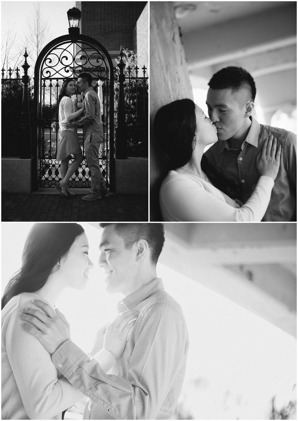 Boston Common Engagement Photography in black and white by Ryan Richardson Photography