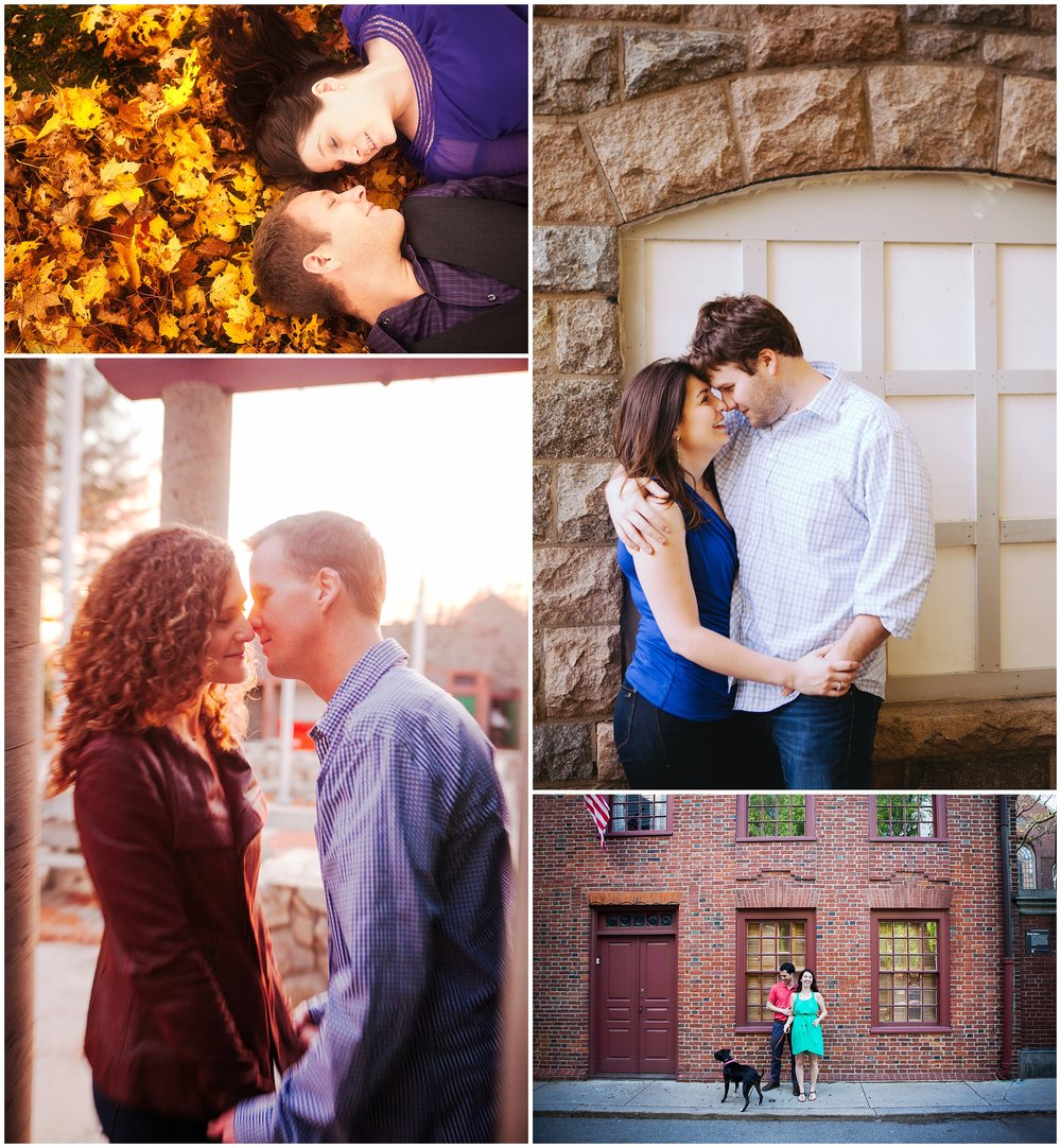 Collage of New England engagement photography by Ryan Richardson Photography