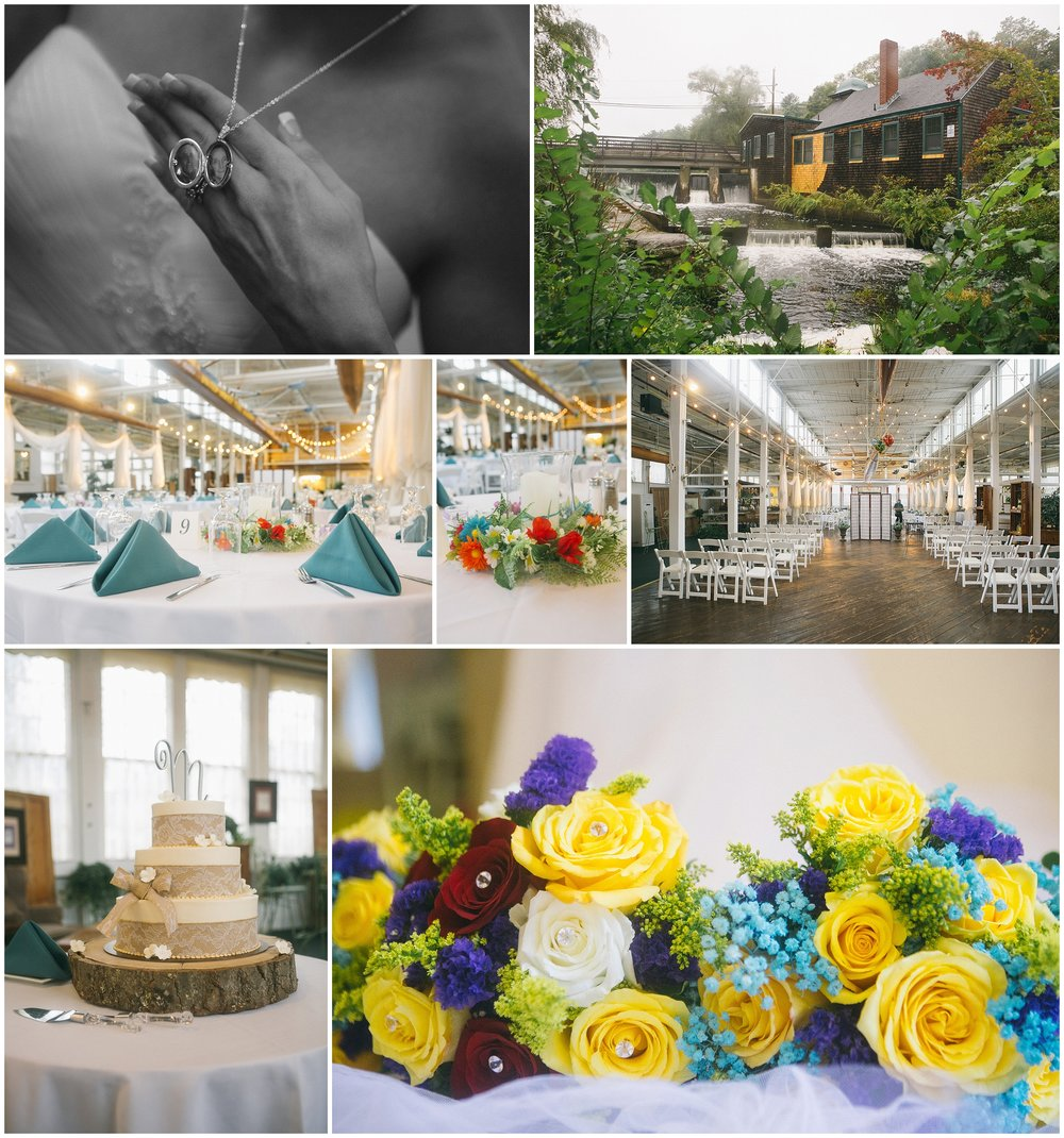 Details captured by Boston Wedding Photographer Ryan Richardson Photography at the Jones River Trading Company in Kingston, MA.
