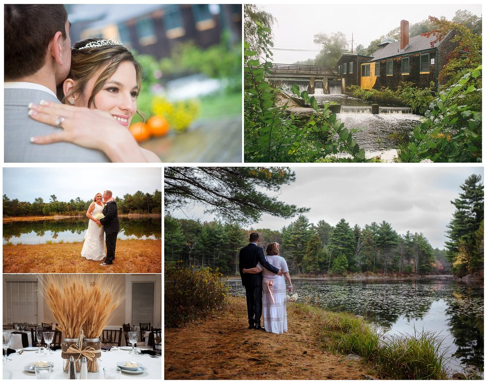 They say that in New England, if you don't like the weather then you should just go inside for ten minutes and wait to see how it changes. This kind of unpredictability, especially through the early Autumn, can make wedding planning in New England tough. Images are from several weddings during the Fall in New England.