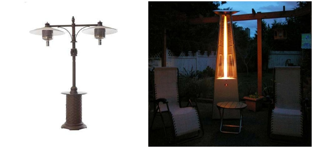 Outdoor heaters come in plenty of different styles if you're as concerned about aesthetics as you are about keeping out the chill.