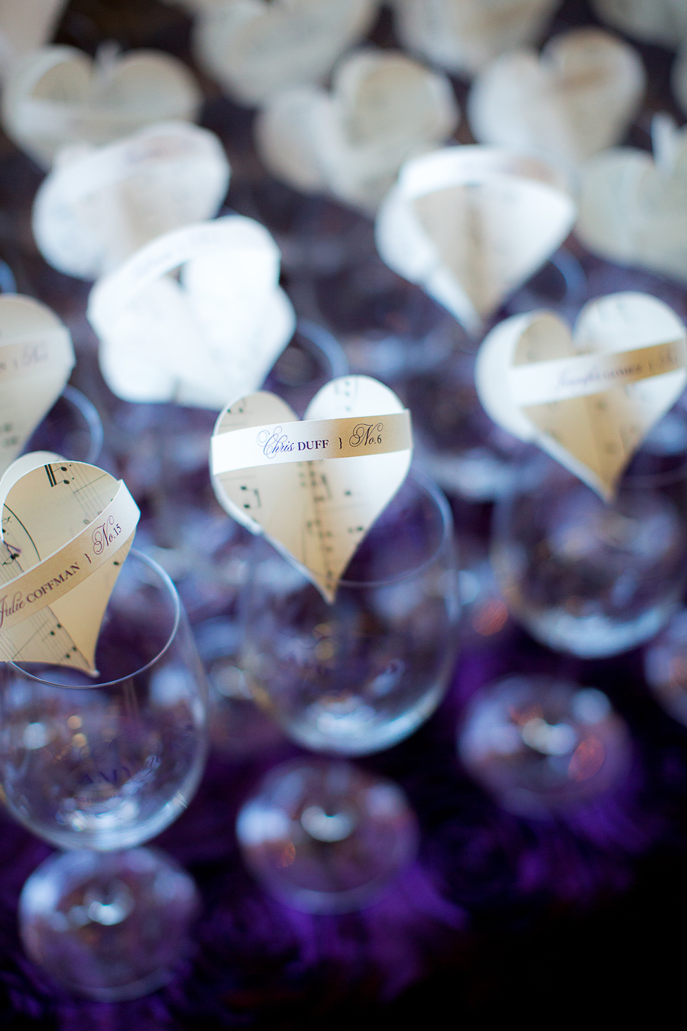 Love Notes Dimensional Heart Escort Cards by www.honeypaperie.com } Photo by The Youngrens