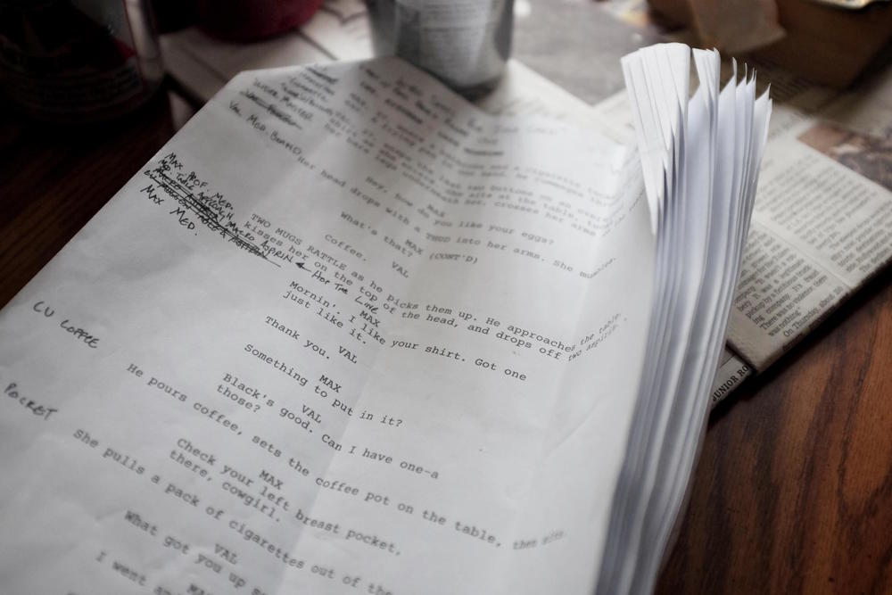 Zach Frankart's script with shooting notes