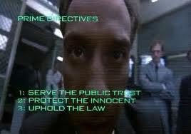 Robocop knows the law.