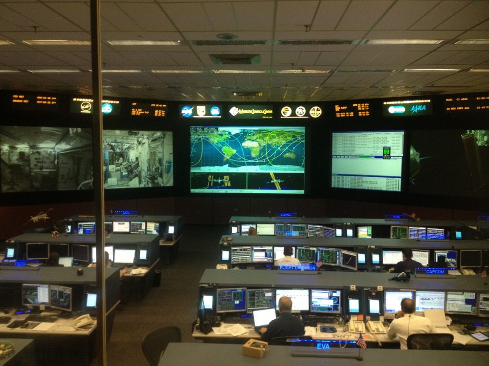 The current Mission Control room which is used to monitor the space station.  When manned spaceflight returns to the US, they'll have more to work on!