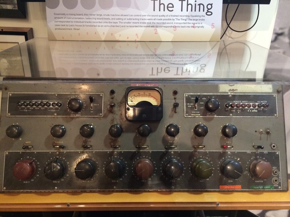 One of Les Paul's mixing boards