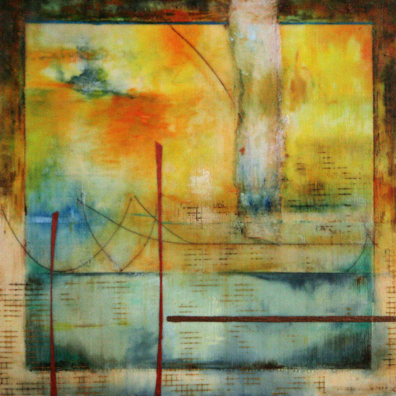Lisa Bick's  Varanasi  (2012) , exhibited at the Ivy Tech Columbus Gallery of Fine Art; through Nov. 30.