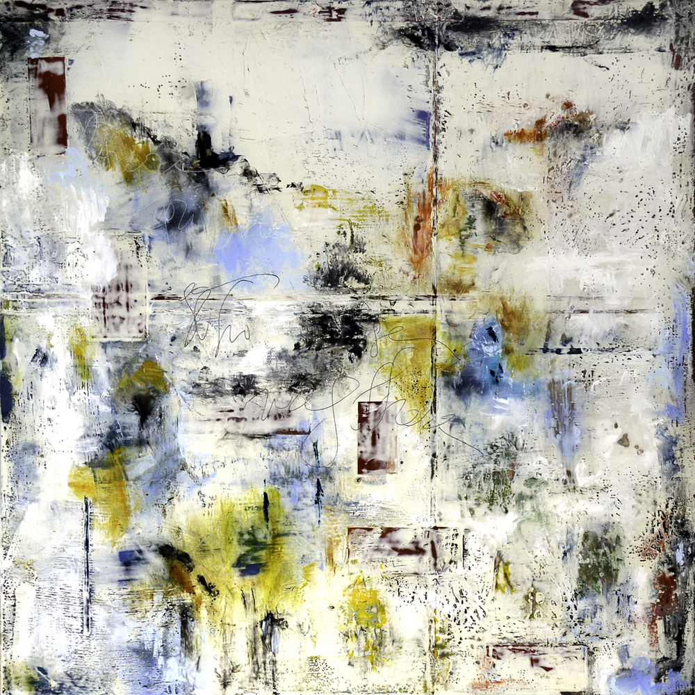 Image: Lisa Bick,  Where Then .   Encaustic on panel. 18 x 18 in.