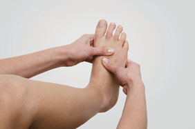 Use your thumbs to massage the foot and rub the foot to improve sensory awareness and blood flow. (Sometimes this can help with blisters before they form.)