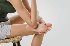 Use your elbow to massage the entire sole of your foot.