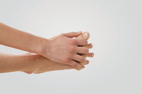 Run your fingers through your toes to spread them and build articulation.