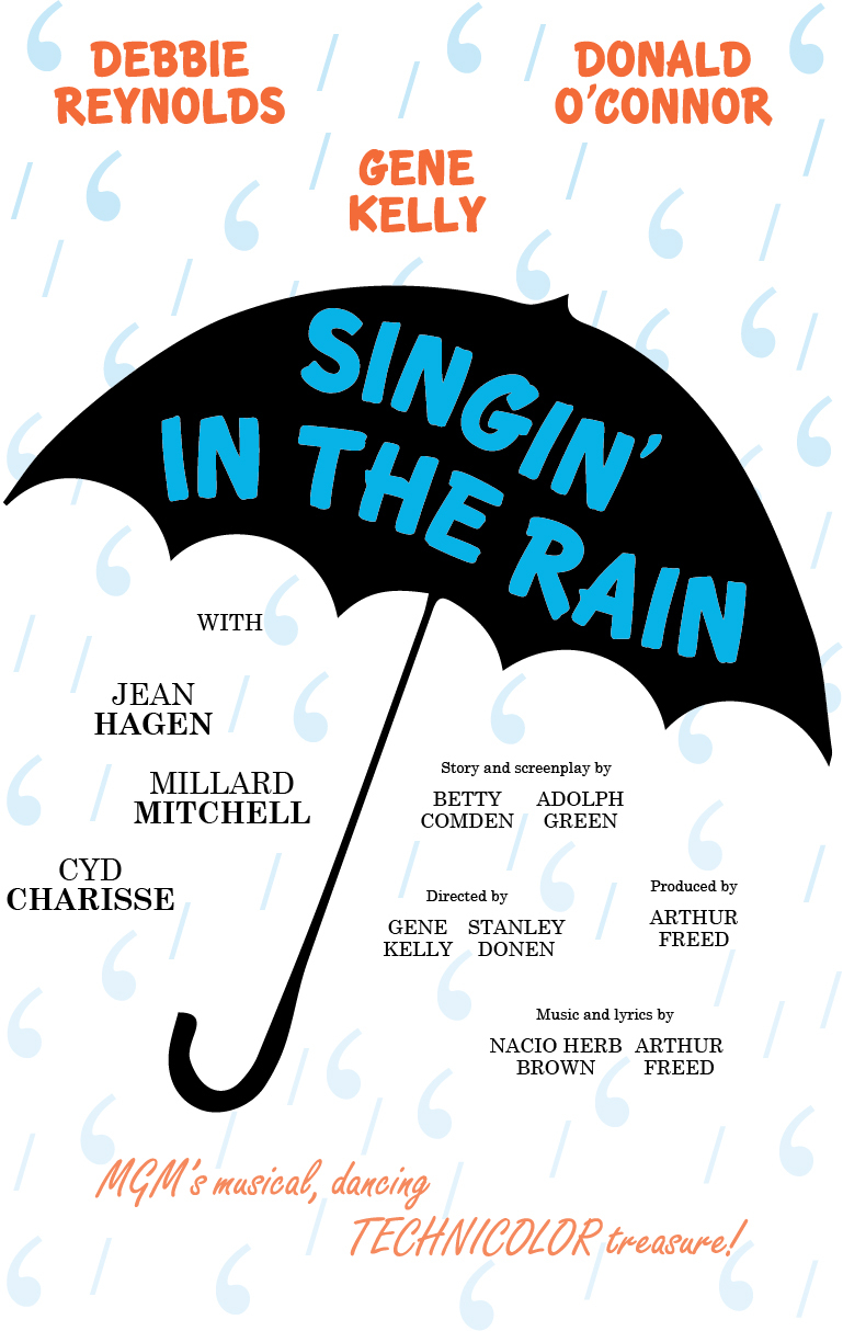 Simplified typographic poster design for the 1951 MGM musical