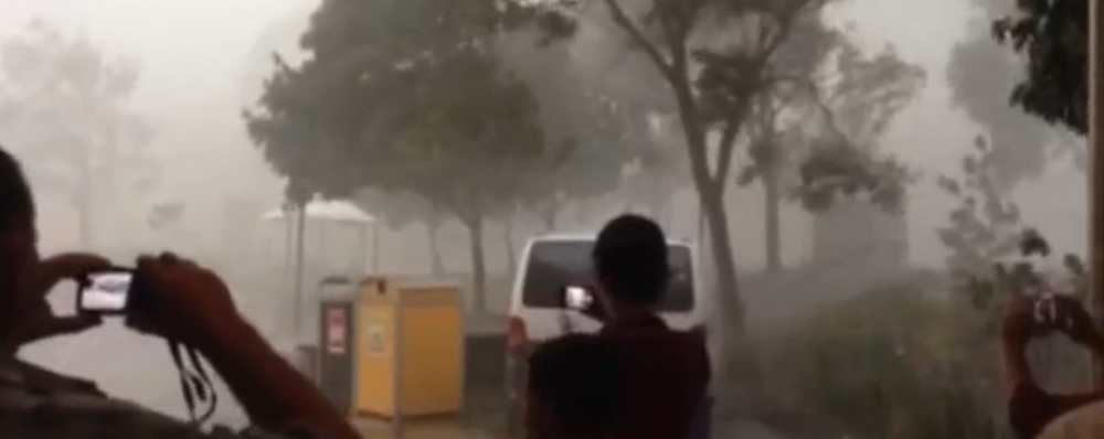 A superstorm hits Brisbane, Australia
