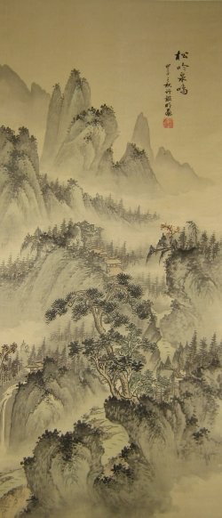 A classic  example  of the ancient art of scroll painting in China