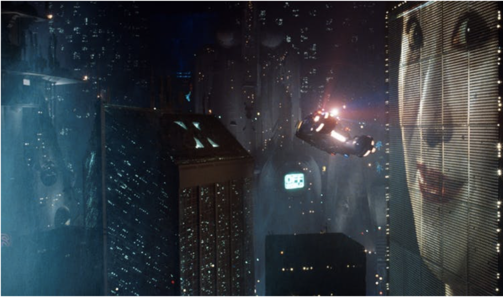 The dystopia cityscape from Blade Runner 1982.