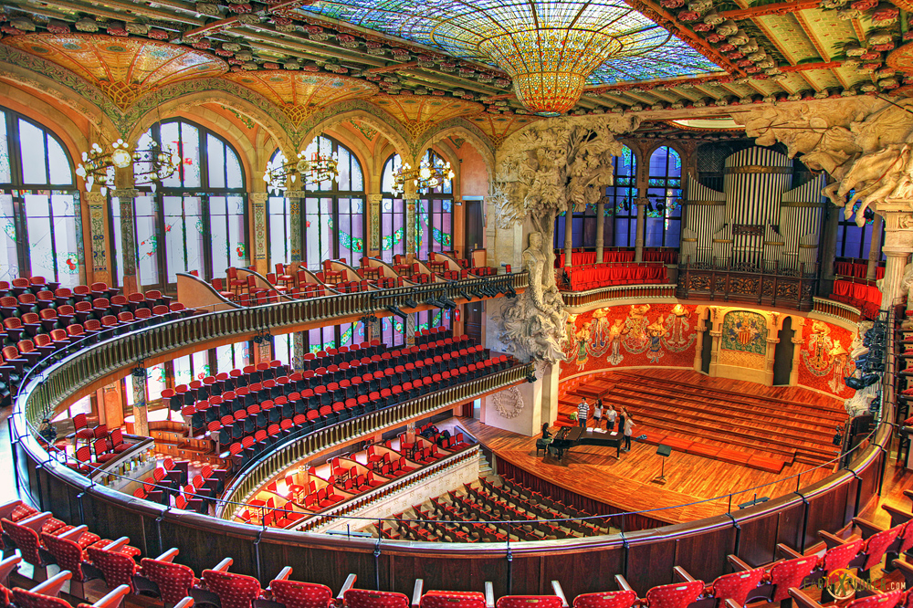 The Beautiful Palau de la Musica Catalana - Barcelona ...