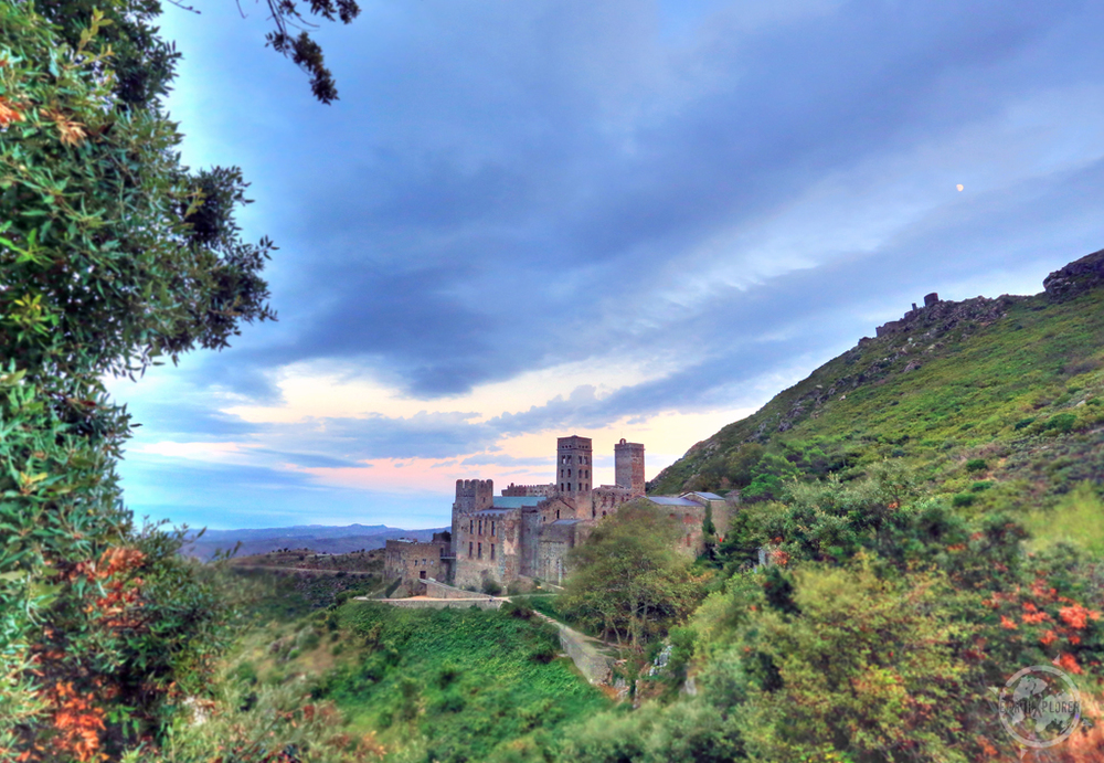 Moon over Monastery of Sant Pere de Rodes, Port de la Selva Spain.jpg