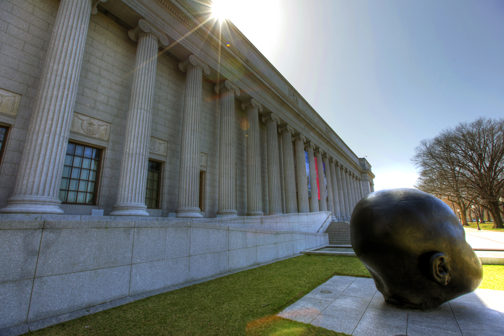 The Sun Shines on the Museum of Fine Arts in Boston