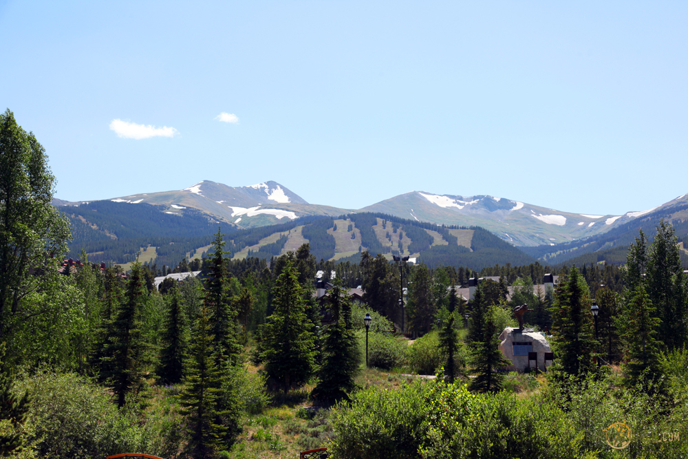 The naked slopes of the Breckenridge Ski Area