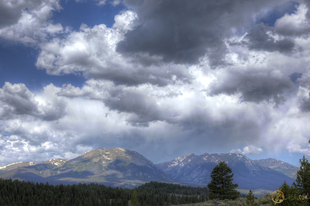 The beautiful mountains of Colorado, including Buffalo mountain on the left.