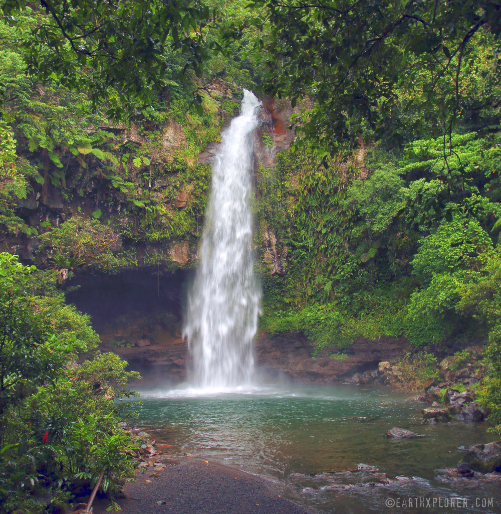 The Bouma National Heritage Park is on the East side of Taveuni Island in Fiji. This is the Lower Bouma Falls.