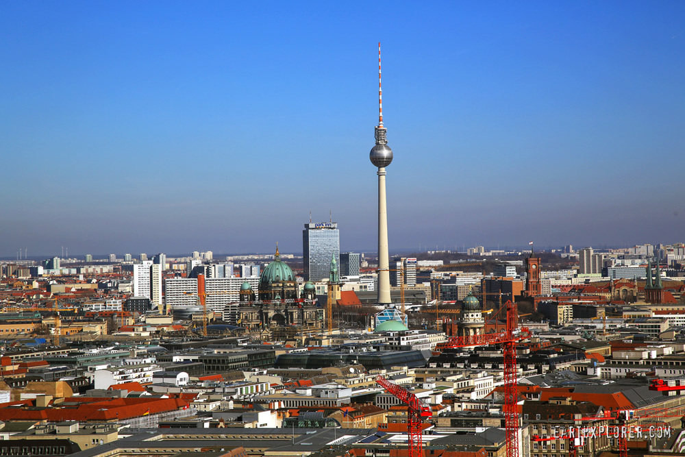 The Fernsehturm - A television tower in the city center of Berlin, Germany
