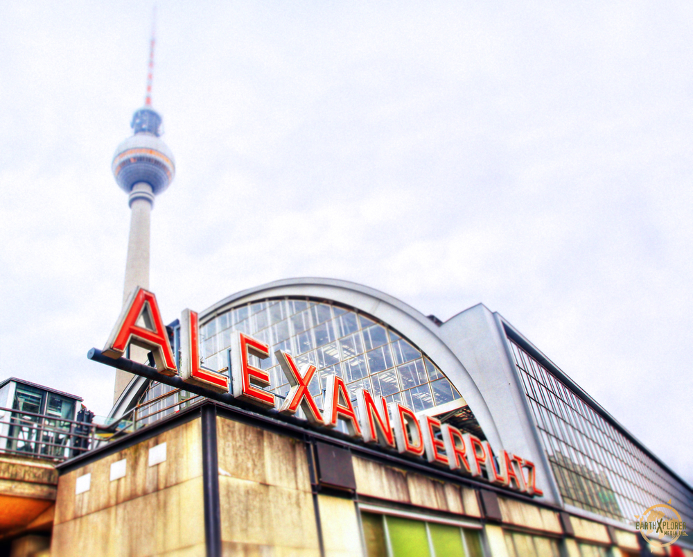 Alexanderplatz is a large public square and transport hub in the central Mitte district of Berlin
