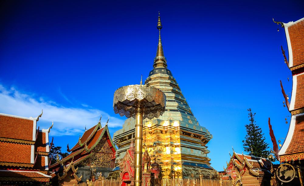 Wat Phrathat at Doi Suthep Temple -Chiang Mai Thailand