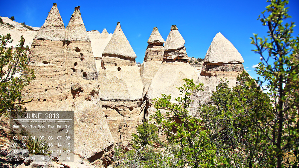 One of my favorite places that I visited on my New Mexico Adventure was Kasha-Katuwe or 'Tent Rocks' National Monument. These cone-shaped 'tent rocks' were formed from volcanic eruptions 6 to 7 million years ago.