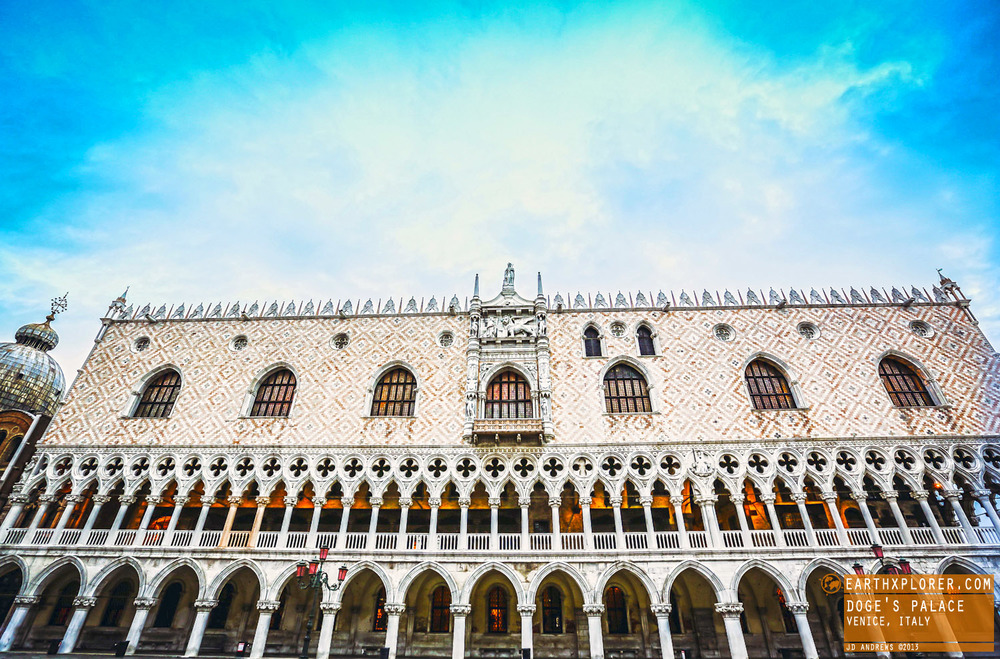 The palace was the residence of the Doge of Venice, the supreme authority of the Republic of Venice.
