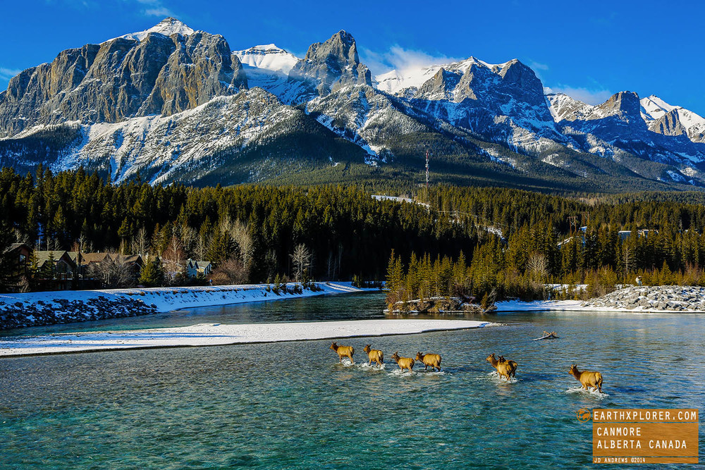 Canmore (AB) Canada  city pictures gallery : Elk Crossing River in Canmore Alberta Canada / January 28, 2014 by JD ...