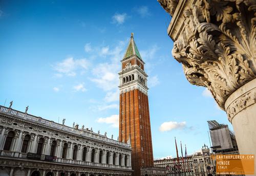 The principal public square of Venice, Italy