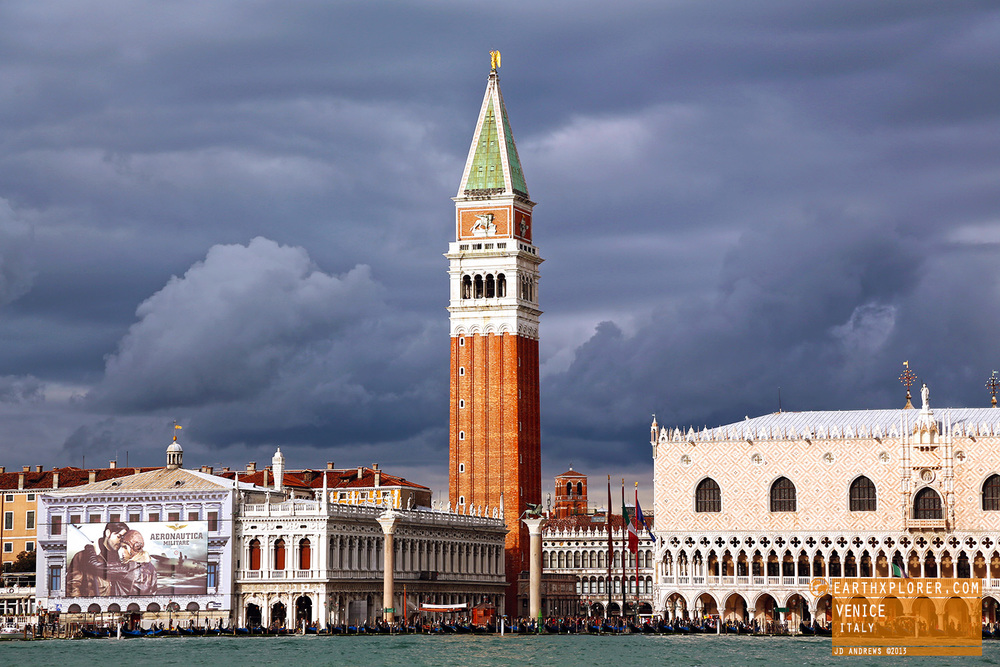 Located in the Piazza San Marco and one of the most recognizable symbols of Venice, St Mark's Campanile is the bell tower of St Mark's Basilica.