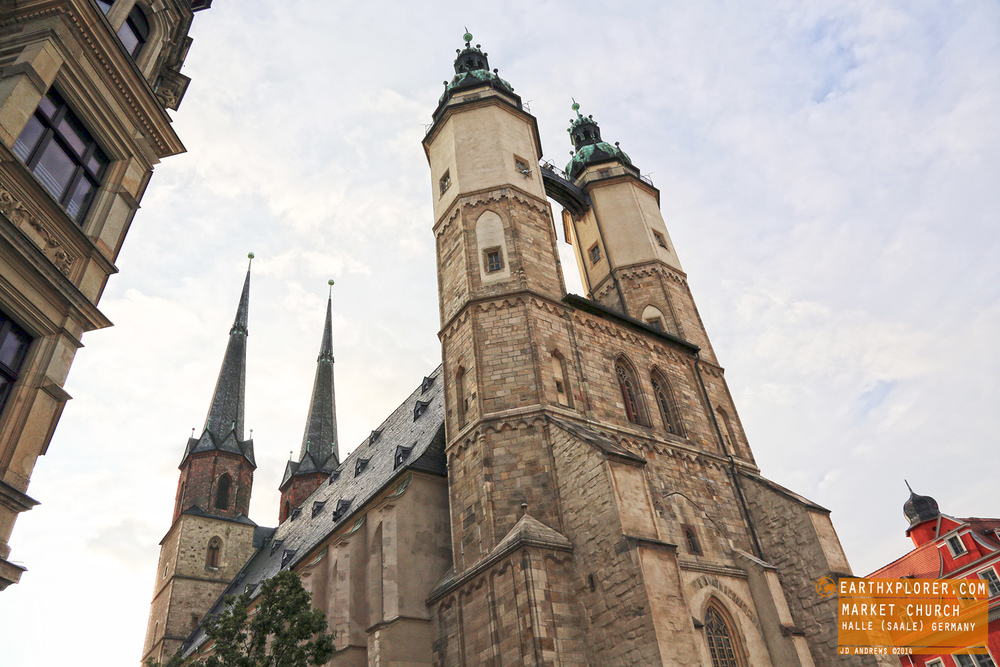 """The Marktkirche Unser Lieben Frauen (""""Market Church of Our Dear Lady"""") in the city of Halle, Saxony-Anhalt, Germany"""