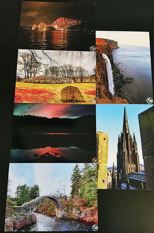6 postcards of Scotland 6bucks + 1buck US shipping
