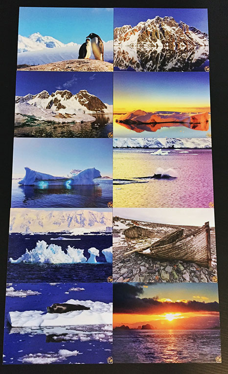 10 postcards of Antarctica 10bucks + 1buck US shipping